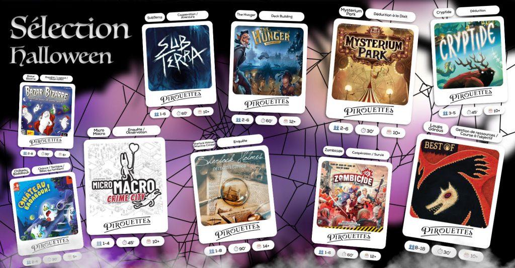 selection de jeux pour halloween