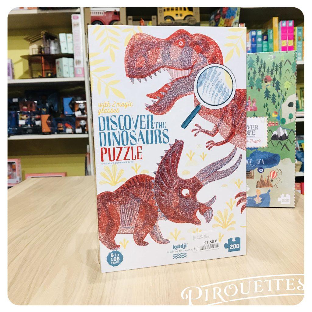 Puzzle 200 pièces Dinosaures, londji