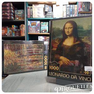 Puzzle art, Monet et Leonard de vinci 1000 pièces
