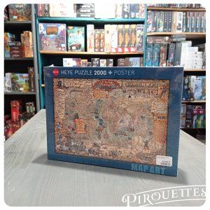 Puzzle carte pirates 2000 pièces